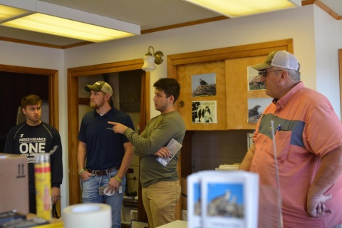 Engineering students meet with community partners in Colfax