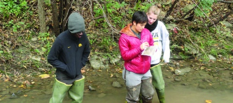 Students in Creek