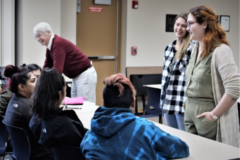 Students visit Upward Bound in Columbus Junction