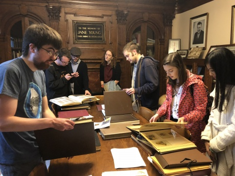 Museum Studies students visit Webster City's Kendall Young Library