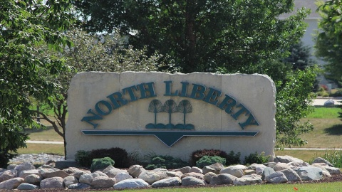 North Liberty sign