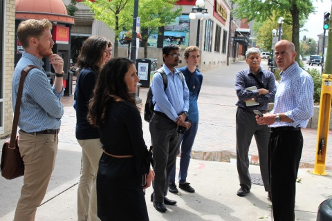 Urban and Regional Planning Students Meet with Iowa City Public Officials
