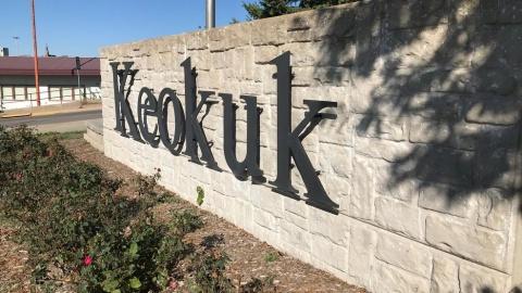 Keokuk Sign photo courtesy of KHQA