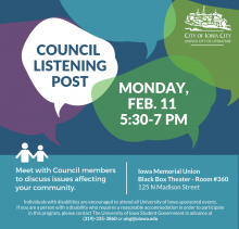 Iowa City Council Listening Post promotional image