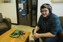 Aiden Bettine photo by Reba Zatz for the Daily Iowan