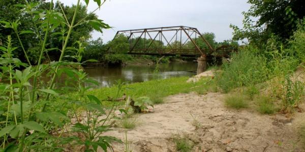 The Red Bridge in Jasper County