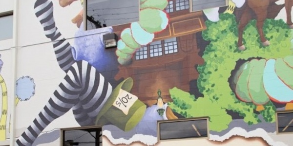 Washington Free Public Library Mural Painting